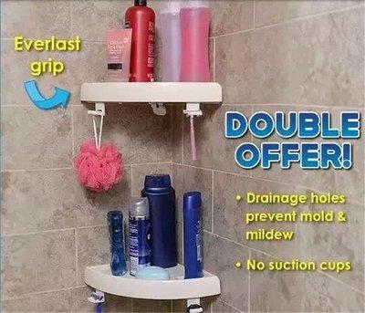 ☆╮布咕咕╭☆Hampton SnapUp Shelf 一卡即用 免打孔浴室廚房三角置物架 瀝水轉角三角置物架