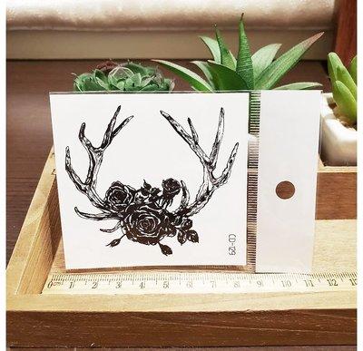 【萌古屋】】樹枝玫瑰 - 手背防水紋身貼紙刺青貼紙CD-129 K12