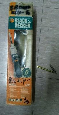 Black & Decker 充電式 電動嫘絲批