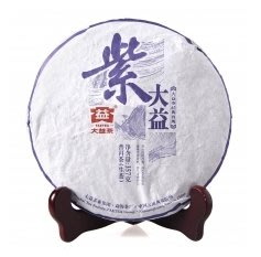 普洱茶 大益 勐海茶廠 2015年 紫大益 1501批次 357克/餅