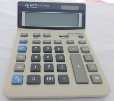 90%新 Citizen SDC-8780L 12-digit 專業 大LED芒 會計師專用 計算機 professional calculator,原$198
