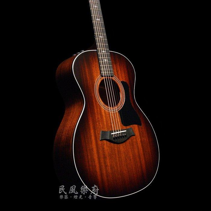 《民風樂府》Taylor 324e 全新V-Class力木系統 美廠 全單板可插電民謠吉他 桃花心木面板 塔斯馬尼亞黑木
