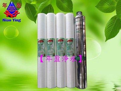 【NianYing淨水】20英吋PP濾心*4支 加 營業用 Everpure MC2 除氯濾心*1支