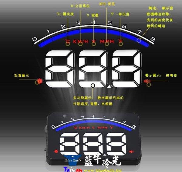 【藍牛冷光】M6 OBD HUD 精簡迷你款 抬頭顯示器 時速 轉速 水溫 電壓 超速警示 水溫電壓異常警示