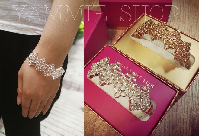 ~YAMMIE SHOP~頗有雕琢感 紐約時尚 全新現貨 金色 銀色 手鐲 手環 送的出手的禮物 配紙盒(CSS3)