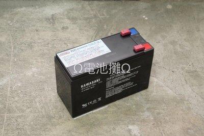 Ω電池攤Ω高雄·產業電池(VRLA)·KAWASAKI 6-DM-9G_ 循環使用型 NP7-12加強