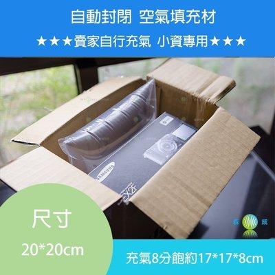 緩衝大師【20cm*20cm 100個】手動充氣袋 充氣填充袋 空氣包裝 紙箱內填充材 緩衝氣墊
