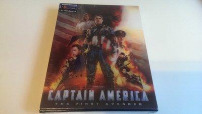 毛毛小舖--藍光BD 美國隊長 Captain America 3D+2D雙碟幻彩盒限量鐵盒版(中文字幕) 布魯版