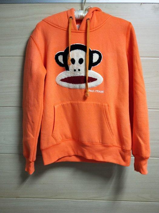 丹丹衣坊--橘色大嘴猴款連帽T恤(內刷毛)
