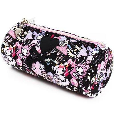 *凱西小舖*日本進口正版三麗鷗Tokidoki x Sanrio kitty圓桶收納包 筆袋