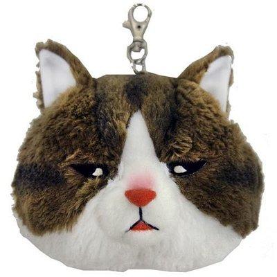 Verna&Co{現貨}日本進口雜貨品牌貓咪的不可思議世界絨毛娃娃零錢包伸縮IC卡套悠遊卡包