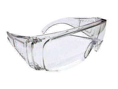 透明防風沙護目鏡 防護眼鏡 運動眼鏡 安全眼鏡 醫療實驗休閒運動工程生存遊戲,透明平光抗UV380, 可帶近視眼鏡