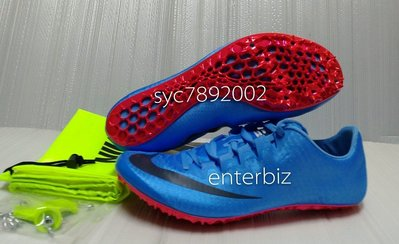 NIKE ZOOM SUPERFLY ELITE耐克精英田徑釘鞋(短距離)835996-446水藍色*尺寸詢問*