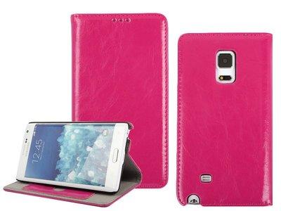 [GIFUTO] Samsung Note Edge 牛皮皮革掀蓋保護套保護殼 – 粉紅色