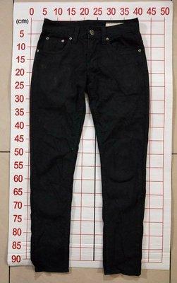 【二手衣櫃】韓國品牌 UPSET JEANS 正韓 帥氣黑色牛仔褲 28腰 修身窄管顯瘦長褲 韓版牛仔褲 1071015