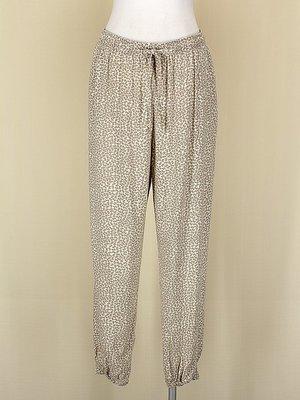 貞新二手衣 UNIQLO 日本 駝色和風棉質泡褲燈籠褲束口褲M號(10397)