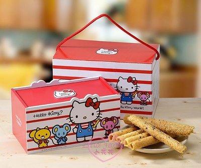 小花花日本精品♥ Hello Kitty 造型蛋捲禮盒 芝麻蛋捲麻吉禮盒 年節送禮自用兩相宜 15001108