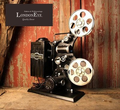 【LondonEYE】Vintage Industrial 工業風/LOFT/ART 黑鐵仿舊電影60放映機 導演/藏品 櫥窗佈置《DC102》