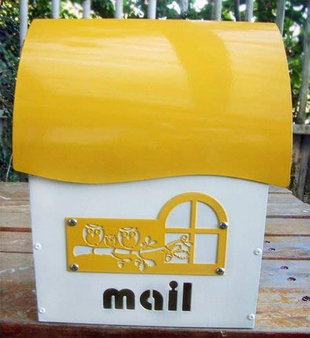 ☆成志金屬廠 ☆  彩色鋁合金信箱(小)--黃色 無鎖