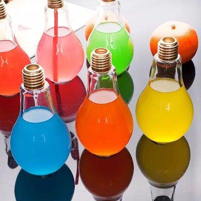 買一送一 出清燈泡飲料瓶奶茶瓶 燈泡杯 燈泡 玻璃杯