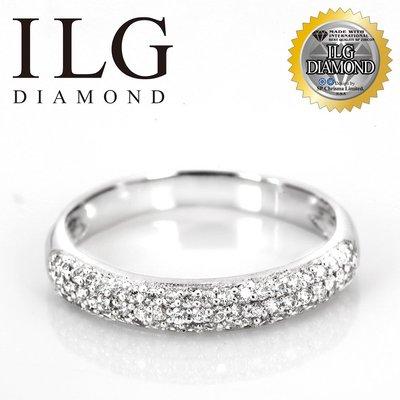 【頂級美國ILG鑽飾】八心八箭戒指-Twinkle 雙排密鑽半圈線戒 RI175
