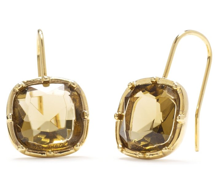 大降價!全新 LAUREN Ralph Lauren 經典金色閃亮貴氣穿式耳環,低價起標無底價!本商品免運費!