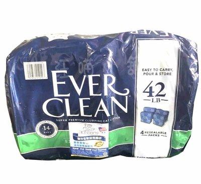 ☆汪喵小舖2店☆ 喵喵專區~Ever Clean藍鑽系列藍標貓砂低過敏凝結砂42磅袋裝