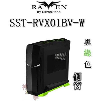 【神宇】銀欣 SilverStone RAVEN SST-RVX01BV-W 烏鴉系列 黑綠色 側窗 電腦機殼