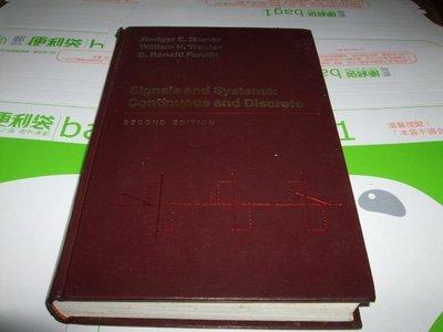 老殘二手書 Signals and systems : continuous and discrete 00243163