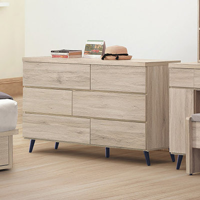 【優比傢俱生活館】21 輕鬆購N-寶雅橡木浮雕耐磨木紋4.6尺六斗櫃 GD547-6