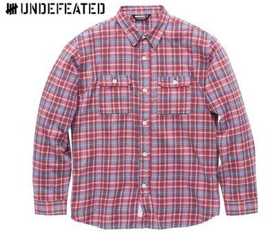 【超搶手】全新正品 2013 A/W 冬季 最新 UNDEFEATED YARDMASTER FLANNEL 法蘭絨 格紋襯衫 紅 S M L