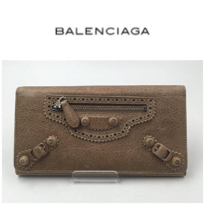【皮老闆二店】二手真品 Balenciaga 長夾 錢包 皮夾 藍212