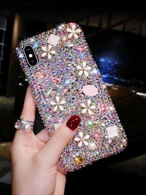 iphone 12 pro Max Mini  手機殼 奢華水鑽 滿鑽魅力 奢華花朵 防摔抗震 保護套