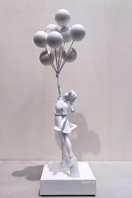 Banksy Flying Balloons Girl 氣球女 MedicomToy SYNC 藝術 公仔 Kaws