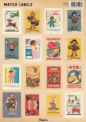 《散步生活雜貨-文具散步系列》日本進口  Homestead 復古 Match Labels 標籤貼紙-HS1223兒童