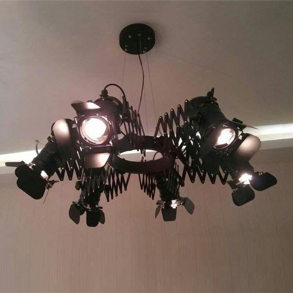 【58街】後現代設計師款式「中子吊燈,6燈款」美術燈複刻版。GH-447