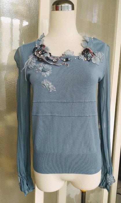 PINK MARY 蕾絲珠繡針織上衣