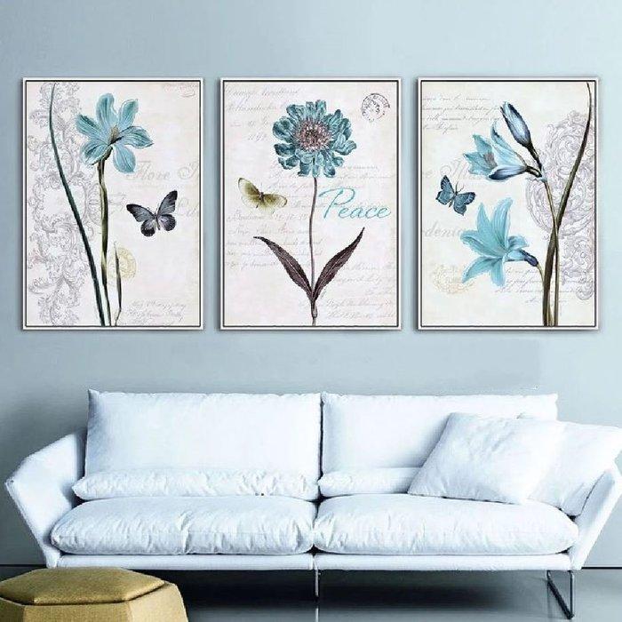 ART。DECO  花卉藝術設計掛畫 北歐英文花卉植物掛畫 客廳裝飾畫