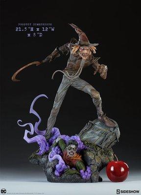 【精選】Sideshow 300722 PF 21.5寸 DC反派 稻草人 Scarecrow 雕像 接單【哆啦小鋪】