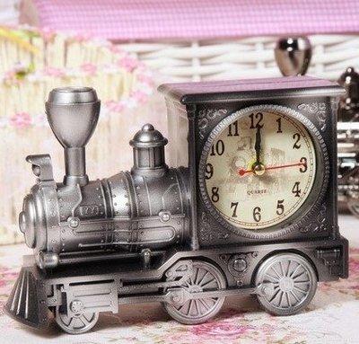 火車頭模型定時鬧鐘創意學生個性現代簡約床頭臥室復古懷舊歐式