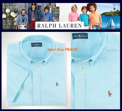 Ralph Lauren 美國【現貨】7號 Boy's 襯衫 Cotton Short-Sleeved