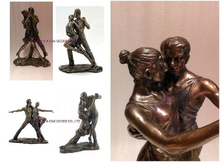 居家藝術[ Vero 設計作品 手工彩繪 探戈系列  雕塑 雕像 ]-擺 飾. ABCD共4款