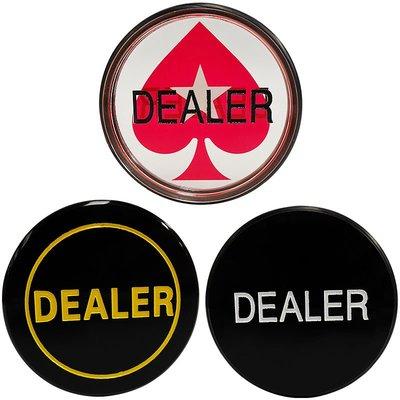 哈尼店鋪*德州撲克莊片 DEALER Button  塑料大莊碼 壓牌片優惠推薦