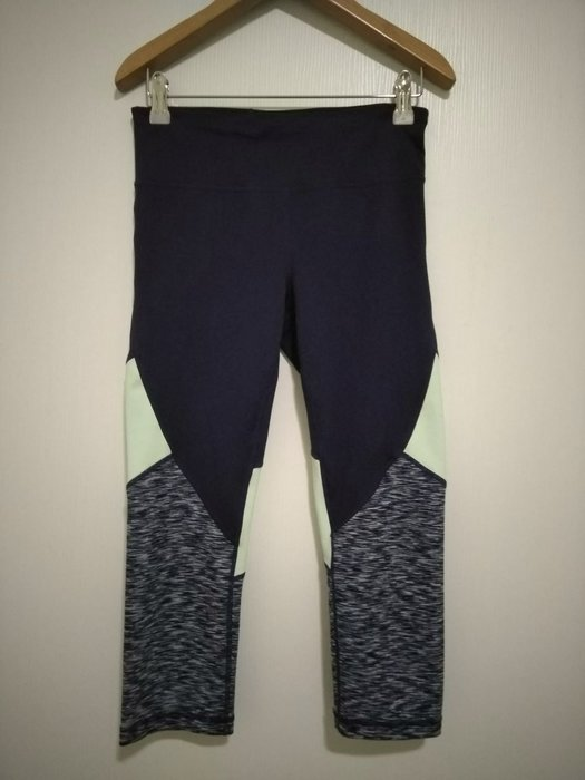 Gap 拼接彈性七分瑜伽褲 重訓 健身褲 xs size