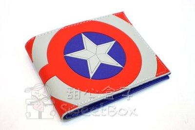 ~貝貝 雜貨~超 盾牌 美國隊長 盾牌 放大 星星 皮夾 信用卡夾 短夾 皮包 證件夾 卡包