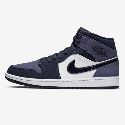 R'代購Air Jordan 1 Mid Sanded Purple 黑藍紫腳趾 toe nike 554724-445