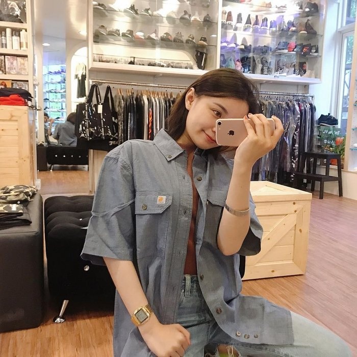 ☆AirRoom☆【現貨】Carhartt Fort Solid S/S Chambray S200 工裝 短袖 襯衫
