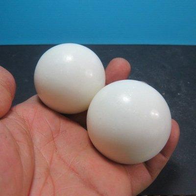 【競礦網】天然罕見西藏白玉石健身球48mm2顆(親民價、便宜賣、限量20組)原價200元