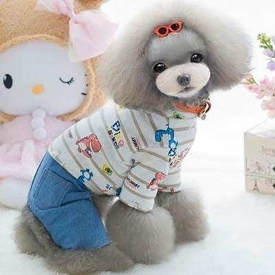 狗狗衣服 秋冬寵物衣-可愛休閒舒適條紋寵物用品2色73ih88[獨家進口][米蘭精品]