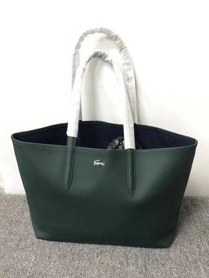 ╭☆包媽子店☆LACOSTE 雙面可用單肩包/購物袋 ((容量超大))~子母包~